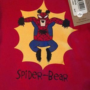 NWT lazy one spider bear pajamas 2t